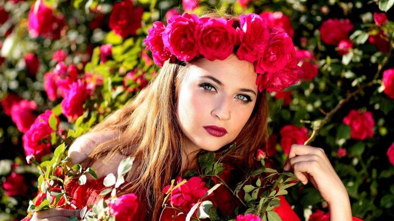 couronne de fleurs été